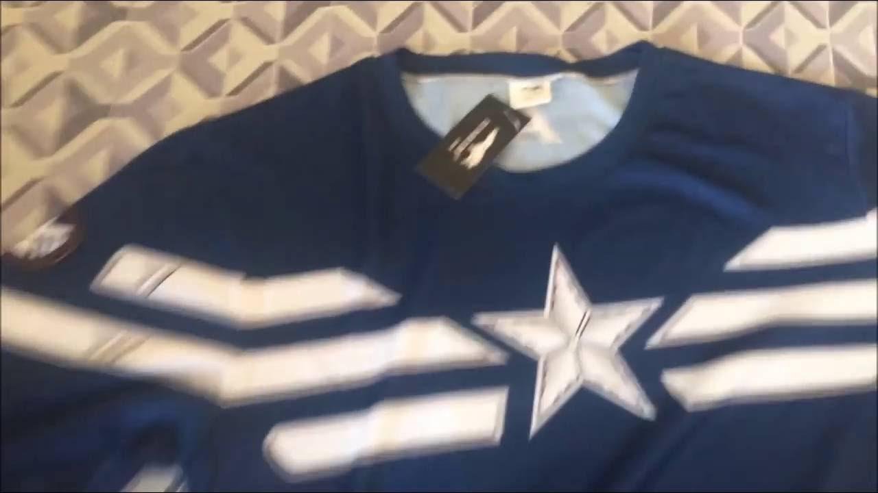 Camiseta Capitão América Manga Longa - Max Vendas - YouTube 31331c5e99d4f
