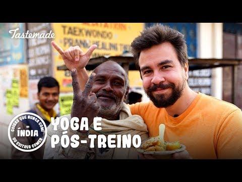 YOGA MATINAL E PÓS-TREINO COM COMIDA DE RUA  Coisas que Nunca Comi na Índia