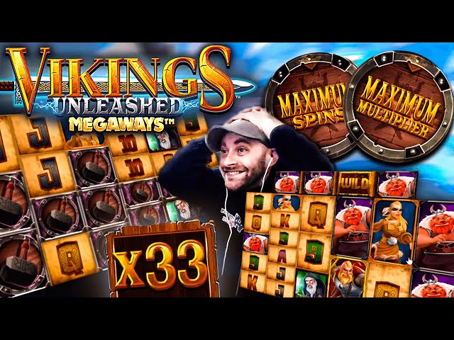 HUGE Win on Vikings Unleashed - MAX Spins MAX Multiplier