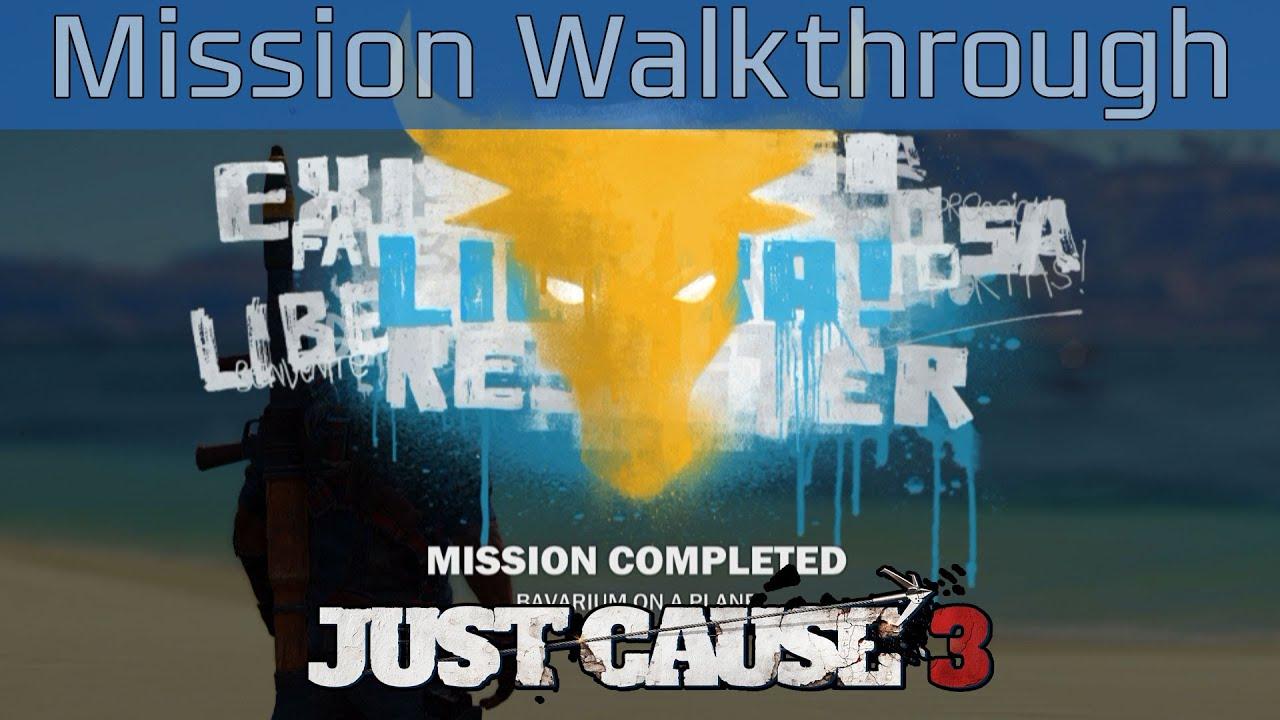 just cause 3 bavarium on a plane mission walkthrough hd 1080p