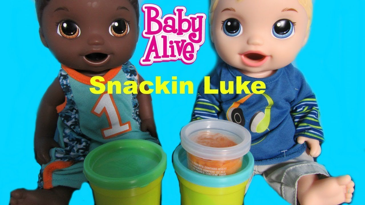 Baby Alive Blonde Snackin Luke Unboxing And My Life As Boy