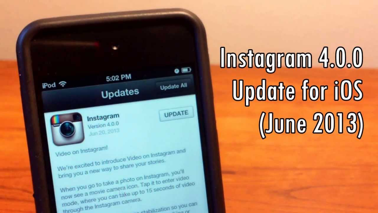 First Look: Instagram 4.0.0 for iOS - Beats Vine With 15-Second Porn Videos  | GeekHelpingHand