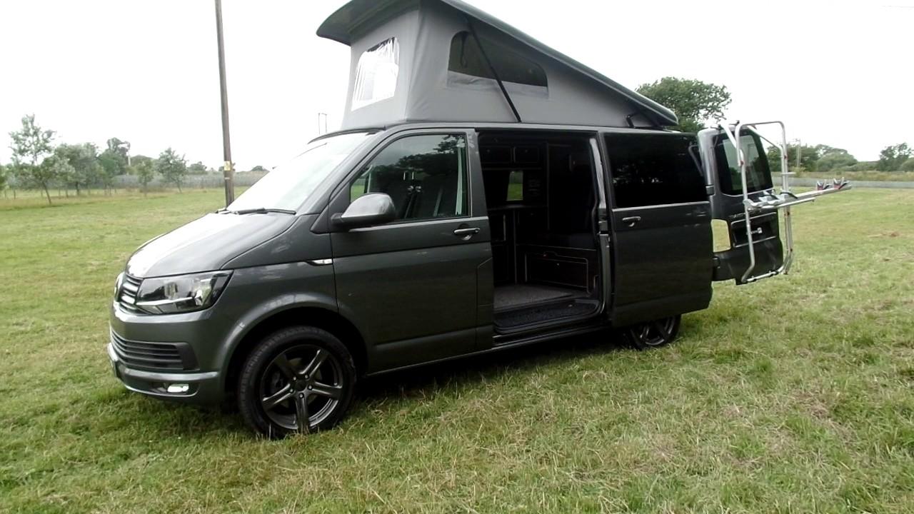 Vw t6 indium grey campervan camper conversion overview youtube vw t6 indium grey campervan camper conversion overview publicscrutiny Images