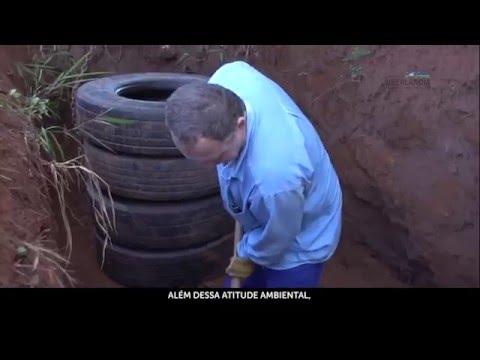 Como fazer uma fossa Séptica com Pneus
