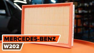 Kā nomainīt MERCEDES-BENZ C W202 motora gaisa filtrs PAMĀCĪBA | AUTODOC