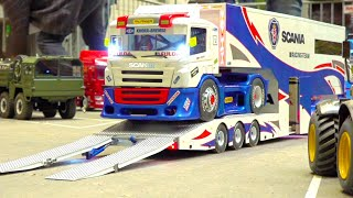 Download RC SCANIA RACE-TRUCK TRANSPORT// SHELL RC TOWING TRUCK// GULF RC RACE TRUCK MAN// LARAG RC TOW TRUCK