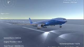 Silantro Unity3d Flight Simulator: Boeing 777-300ER Flight Test