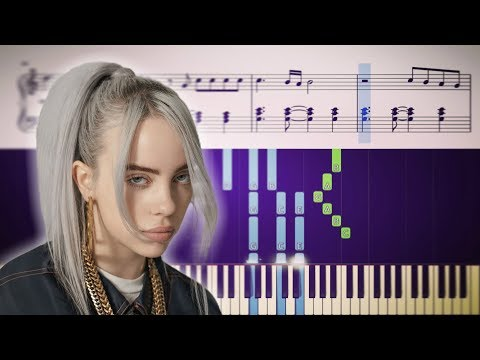 Billie Eilish - bury a friend - Piano Tutorial + SHEETS