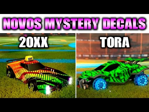 2 Novos Mystery Decals Tora E 20xx Rocket League Youtube