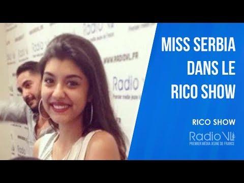 Miss Serbia dans le Rico Show sur RadioVL
