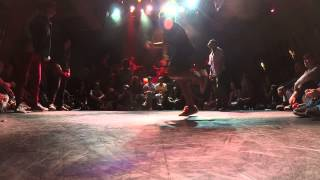 IBE 2014 | 2 on 2 Bgirl Battle | 1st Battle | Angela & Mariella Chile Vs.  Lil Jen & Lerok