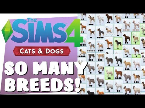 SIMS 4 CATS & DOGS - SO MANY BREEDS!!