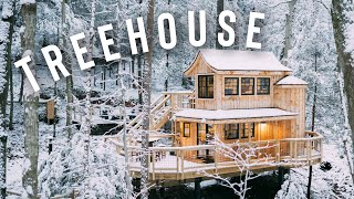 *snowy* Treehouse Cabin Full Tour! | The Beech Treehouse