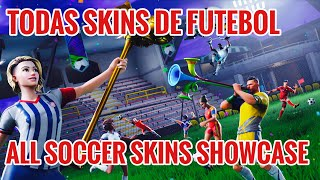 * ALL THE SOCCER SKINS FORTNITE! * ALL * SOCCER SKINS SHOWCASE! WHAT MORE BEAUTIFUL FOOTBALL SKIN?