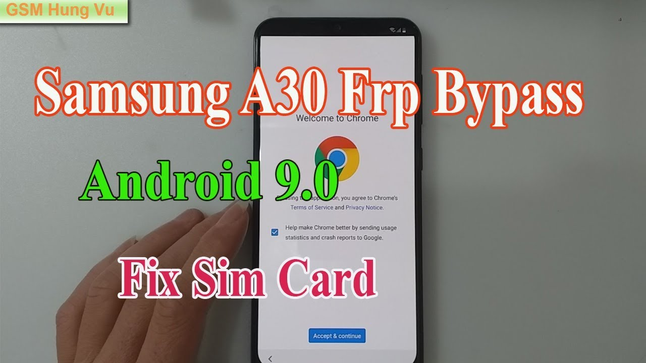 Samsung A30 Frp Bypass Android 9 0 Fix Sim Card Not Word 100% done