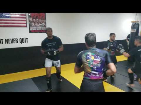Kick Boxing Sparring