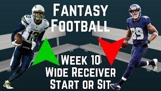 Fantasy Football - Week 10 Wide Receiver Start or Sit