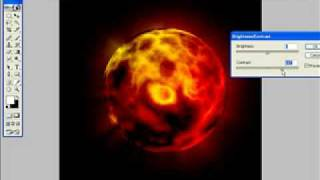 FIRE PLANET - PHOTOSHOP TUTORIAL - 5 MINUTES IN REAL TIME.