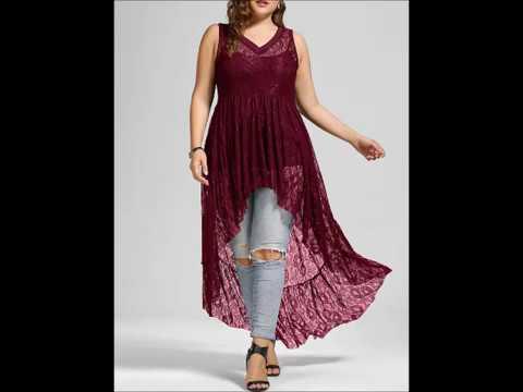 Супер модные блузки и туники больших размеров!!!