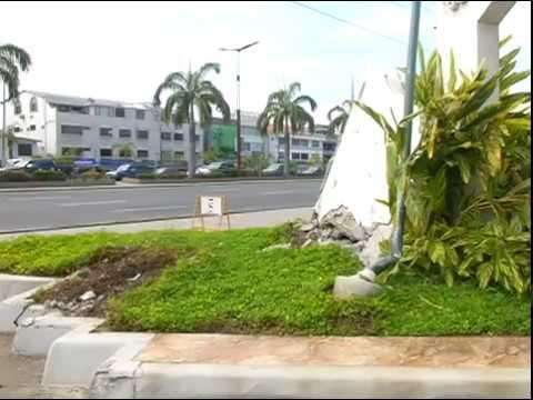 Accidente en urbanizacion via Samborondón