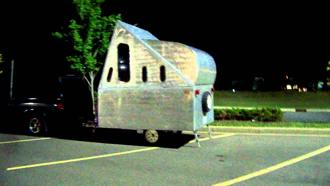 unusual tiny rvs.  Very Nice unique DIY pop up camper RV trailer YouTube