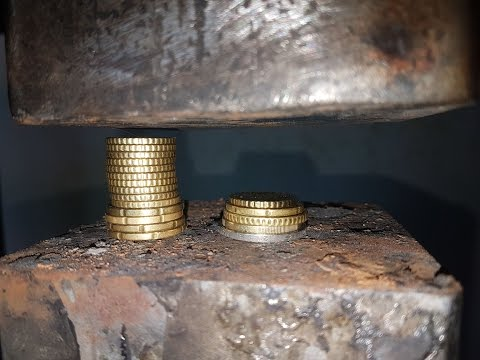 Thumbnail: Experiment Euro Coins Vs 200 ton Hydraulic Press The Crusher