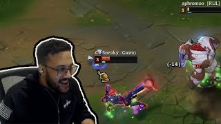 Aphromoo Tries To Troll Sneaky But Regrets It   Tyler1 Makes His Teammate AFK   Yassuo  LoL Moments