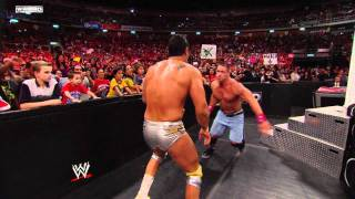 Raw - John Cena & Jim Ross vs. Alberto Del Rio & Michael Cole