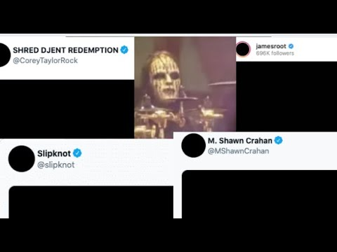 """Corey Taylor, """"Clown""""andJim Rootpay respects to Joey Jordison by """"going dark"""" on social media .."""