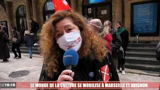Coronavirus : rassemblements des acteurs de la culture à Marseille et Avignon