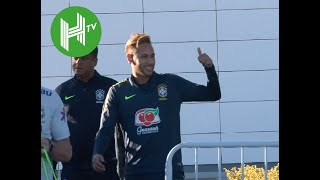 Neymar, Philippe Coutinho, Gabriel Jesus, Roberto Firmino and Fred all train with Brazil in London