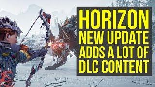 Horizon Zero Dawn DLC Content ADDED IN PATCH 1.40 & MORE NEW INFO! (Horizon Zero Dawn Frozen Wilds)