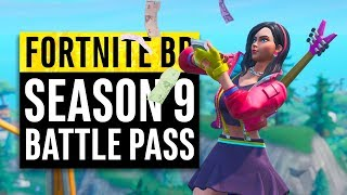 Fortnite | Season 9 Battle Pass Reactions (All skins, upgrades and unlockables)