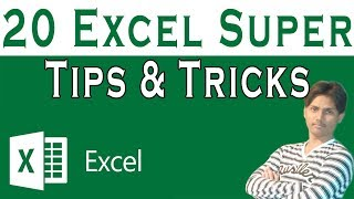 Excel Super Tips & Tricks Tutorial In Urdu or Hindi