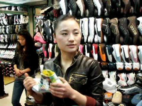 Shoe Shopping at Silk Street Market, Beijing China
