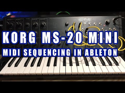 MIDI Sequencing with Korg MS-20 Mini and Ableton