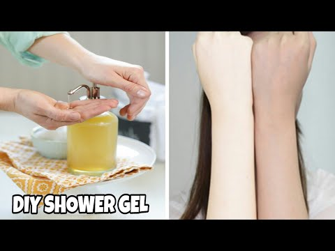 DIY SHOWER GEL||FULL BODY WHITENING AND GLOWING SHOWER GEL||HOMEMADE SHOWER GEL