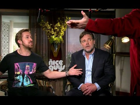 Ryan Gosling & Russell Crowe Getting Sh#t for The Angry Birds Movie - THE NICE GUYS (NSFW)