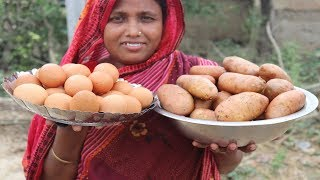 Village Food Egg Potato Chop Recipe Tasty Cooking Egg Chop Curry Farm Fresh Yummy Potato Chop Recipe
