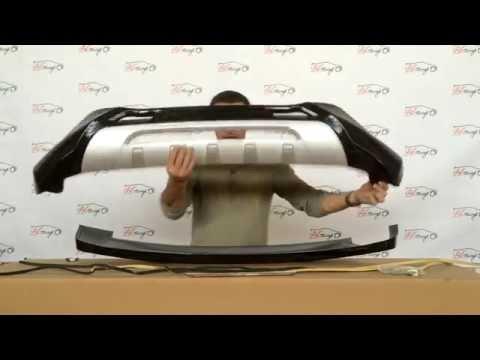 Накладки на бампер передние+задние Mitsubishi ASX