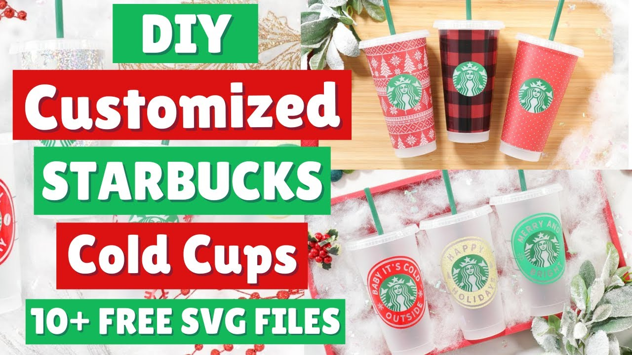 Diy How To Make Customized Starbucks Cup Decals Free Svg Templates Files Youtube