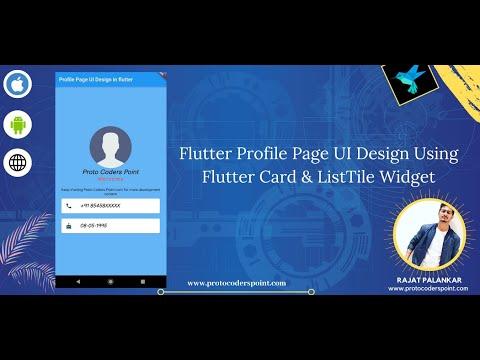 Flutter Profile Page UI Design Using Flutter Card & ListTile Widget