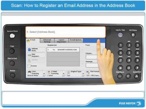 How To Register an Email Address in the Address Book - ApeosPort-V & DocuCentre-V Products - English