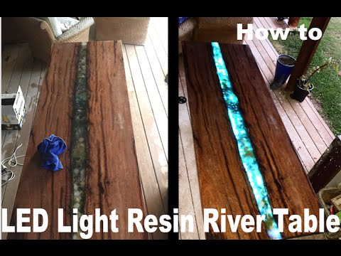 LED epoxy resin river table