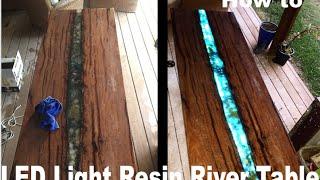 LED epoxy resin river table
