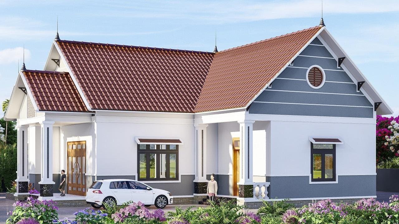 Mẫu nhà vườn mái thái chữ L đẳng cấp nhất Thái Nguyên 4 phòng ngủ