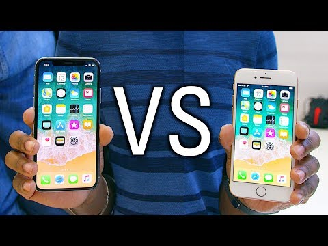 Thumbnail: iPhone X vs iPhone 8 Hands On - What's the Difference?