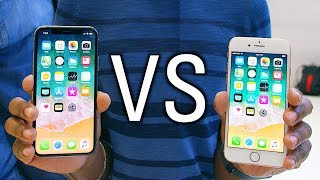 iPhone X vs iPhone 8 Hands On - What's the Difference?