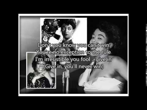 SARAH VAUGHAN - Whatever Lola Wants�)with lyrics