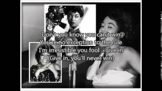SARAH VAUGHAN - Whatever Lola Wants(1955)with lyrics